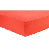 Trend Lab Coral Flannel Fitted Crib Sheet