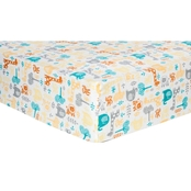Trend Lab Lullaby Zoo Flannel Fitted Crib Sheet