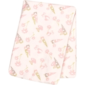 Trend Lab Garden Gnomes Flannel Swaddle Blanket