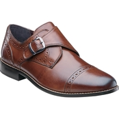 Nunn Bush Newton Mens Cap Toe Monk Strap Slip On Dress Shoe
