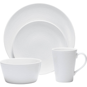 Noritake White on White Swirl Coupe 4 Pc. Place Setting