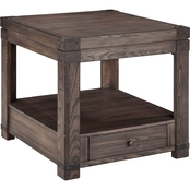 Ashley Burladen End Table with Functioning Drawer