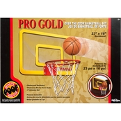 POOF Pro Gold 23-Inch Over The Door Basketball Set