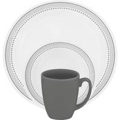 Corelle Livingware Mystic Gray Dinnerware 16 pc. Set