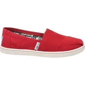 TOMS Girls Grade School Classic Alpargata Slip On Shoes