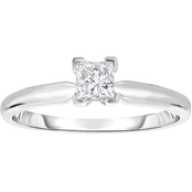 14K Gold 1/2 Ct. Princess Cut Solitaire Ring