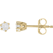 14K Gold 1/5 CTW Round Stud Earrings