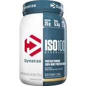 Dymatize ISO 100 Hydrolyzed Whey Protein, Birthday Cake