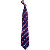 Eagles Wings MLB Atlanta Braves Woven Stripes Tie