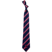 Eagles Wings MLB Cleveland Indians Woven Stripe Tie