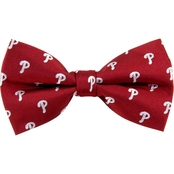 Eagles Wings MLB Philadelphia Phillies Woven Repeat Bow Tie