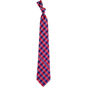 Eagles Wings MLB Texas Rangers Woven Check Tie