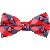 Eagles Wings MLB Boston Red Sox Woven Check Bow Bow Tie