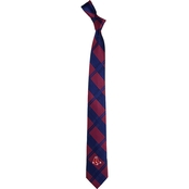Eagles Wings MLB Boston Red Sox Woven Skinny Plaid Tie