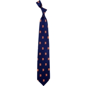 Eagles Wings MLB Detroit Tigers Prep Print Silk Tie