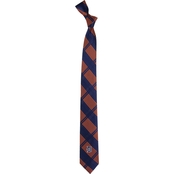 Eagles Wings MLB Detroit Tigers Woven Skinny Plaid Tie