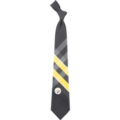 Eagles Wings NFL Pittsburgh Steelers Woven Grid Tie