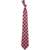 Eagles Wings NHL Chicago Blackhawks Woven Checked Tie