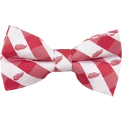Eagles Wings NHL Detroit Red Wings Checked Bow Tie
