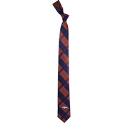 Eagles Wings NFL Denver Broncos Skinny Plaid Necktie