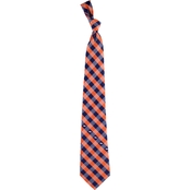 Eagles Wings NFL Denver Broncos Checked Necktie