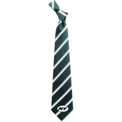 Eagles Wings NFL New York Jets Striped Necktie