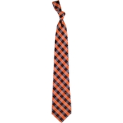 Eagles Wings NFL Cleveland Browns Checked Necktie