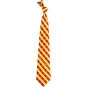 Eagles Wings NFL Kansas City Chiefs Checked Necktie