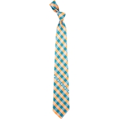 Eagles Wings NFL Miami Dolphins Checked Necktie