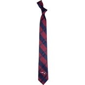Eagles Wings NFL New England Patriots Skinny Plaid Necktie