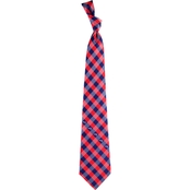Eagles Wings NFL New England Patriots Checked Necktie