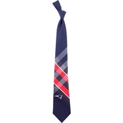 Eagles Wings NFL New England Patriots Grid Necktie