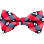 Eagles Wings NFL New York Giants Checked Bow Tie
