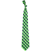 Eagles Wings NFL Seattle Seahawks Checked Necktie