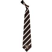 Eagles Wings NFL Oakland Raiders Striped Necktie