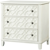 Klaussner Trisha Yearwood Gwendolyn 3 Drawer Accent Chest, Whipped Cream