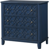 Klaussner Trisha Yearwood Gwendolyn 3 Drawer Accent Chest, Blue