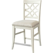 Klaussner Southern Kitchen Counter Height Dining Chair, White