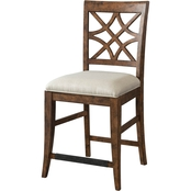 Klaussner Southern Kitchen Counter Height Dining Chair, Brown
