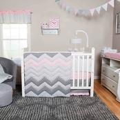 Trend Lab Cotton Candy Chevron 3 Pc. Crib Bedding Set