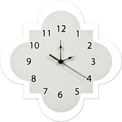 Trend Lab Gray Quatrefoil Wall Clock