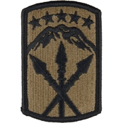Army Patch 593rd Sustainment Brigade Velcro Subdued (OCP)