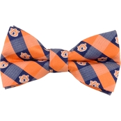 Eagles Wings NCAA Auburn Tigers Woven Check Bow Tie