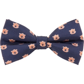 Eagles Wings NCAA Auburn Tigers Woven  Repeat Logo Bow Tie