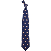 Eagles Wings NCAA Auburn Tigers Prep Print Silk Tie