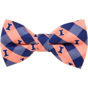 Eagles Wings NCAA  Illinois Fighting Illini Check Bow Tie