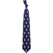 Eagles Wings NCAA Illinois Fighting Illini Silk Necktie