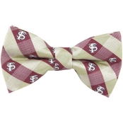 Eagles Wings NCAA Florida State Seminoles Woven Check Bow Tie