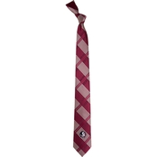 Eagles Wings NCAA Florida State Seminoles Woven Skinny Plaid Tie