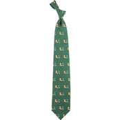 Eagles Wings NCAA Miami Hurricanes Prep Print Silk Tie
